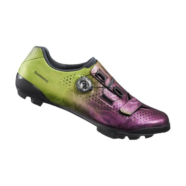 SHIMANO SH-RX800 越野公路鞋(SPD鎖)-寬型-紫綠色/SHIMANO SH-RX800 ROAD SHOES-WIDE- PURPLE/GREEN