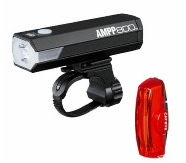 CATEYE 前後燈套裝~AMPP800 + RAPID X2 KINETIC~890-1070 / CATEYE LIGHT SET~AMPP800 + RAPID X2 KINETIC~890-1070