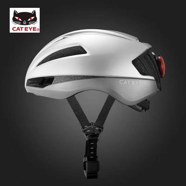 (預售) CATEYE 貓眼頭盔 一體式氣動頭盔(可裝尾燈,尾燈需另買) -銀色 M碼