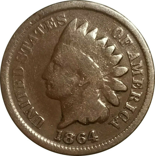 1864 Indian Cent, Choice VG, Smooth, Glossy Surfaces