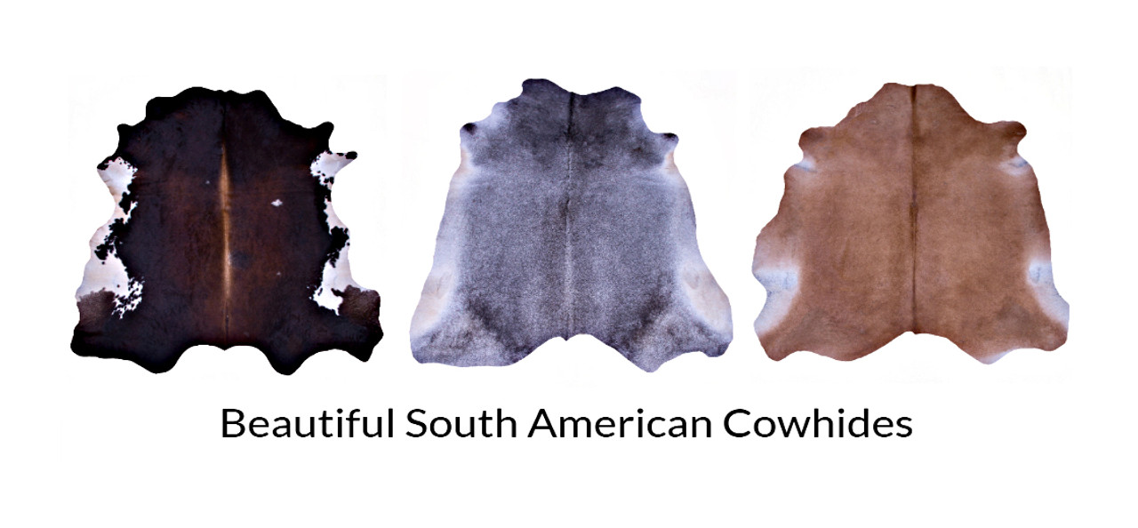 selection of cowhide rugs