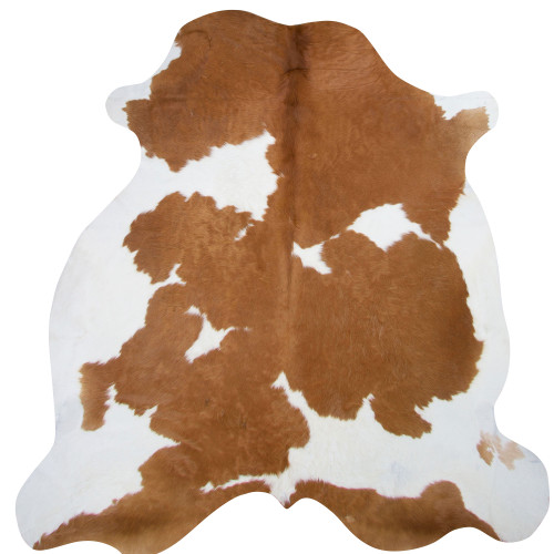 cow skin rug brown and white