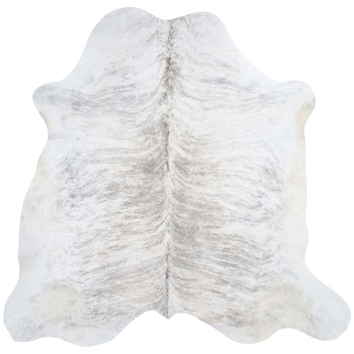large grey and white cowhide rug