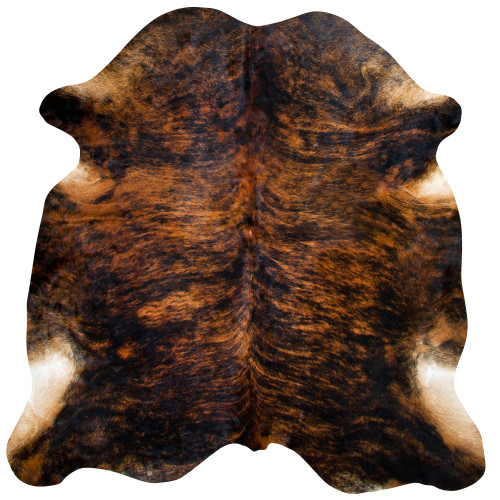cowhide brindle, chocolate and walnut