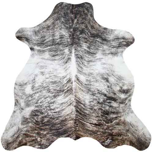 white and grey brindle cowhide