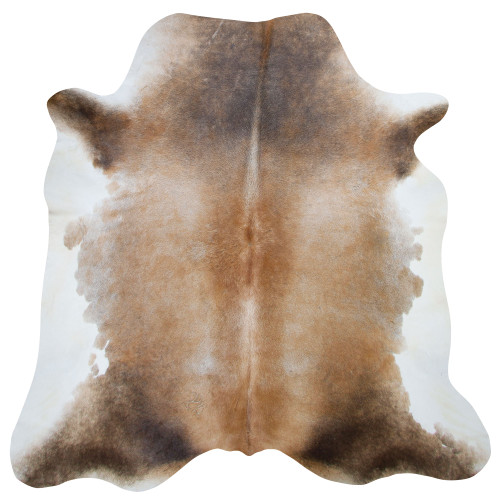 cowhide amber, white and black