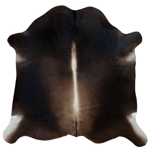 cowhide rug dark chocolate tones