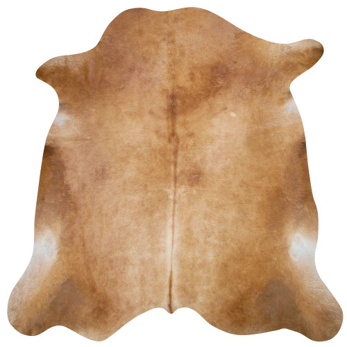 cow rug warm tan