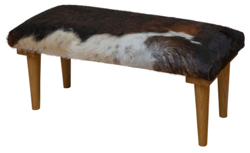 Footstool in a Tricolour Cowhide