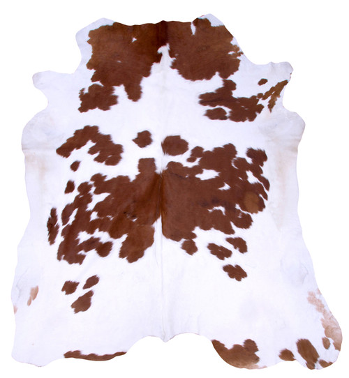 white and brown cow hide