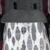 Grey Feathers Snuggle Bag to fit Phil & Teds
