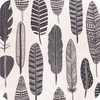 Grey Feathers print