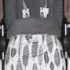 Grey Feathers Snuggle Bag to fit Cameleon or Fox