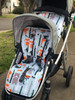 Forest Animals pram liner set custom made for Uppababy Vista Rumble seat