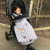 Peekaboo Grey Snuggle Bag for Baby Jogger City Mini GT