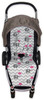 Chevron Grey & Pink Elephants Cotton Pram Liner to fit Agile/Agile Plus