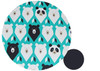 Geo Bears Teal Cotton Pram Liner to fit Baby Jogger Summit xc/x3