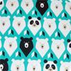 Geo Bears Teal Cotton Universal Fit Pram Liner