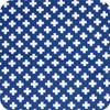 Crosses Navy & White 100% cotton