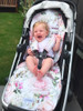 English Rose Cotton Pram Liner to fit Uppababy