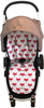 Fox Red Universal Fit Cotton pram liner set (harness strap covers optional)