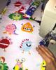 Little Monsters Universal Fit Cotton Pram Liner - SALE