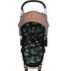 Leopard Black Universal Fit Cotton Pram Liner