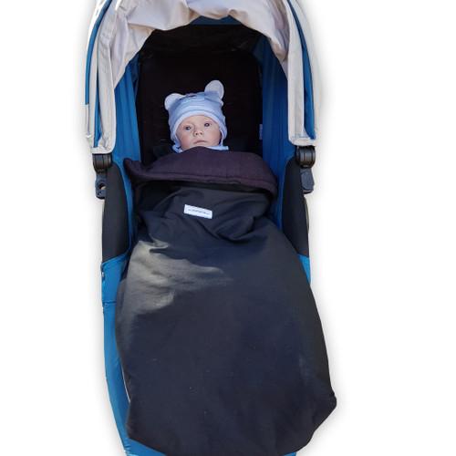 Jet Black snuggle bag to fit Baby Jogger City Mini GT