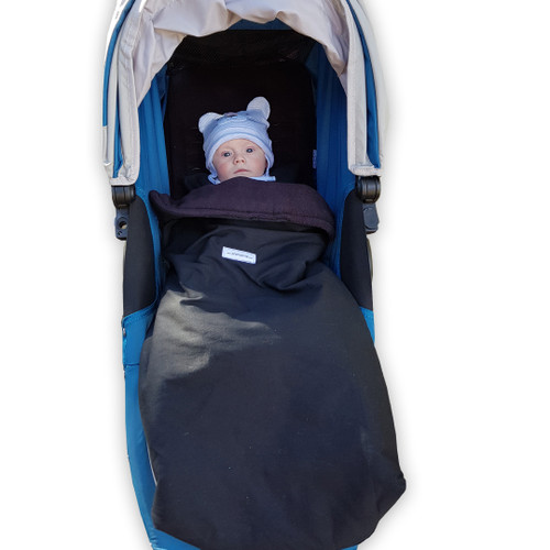 Jet Black snuggle bag to fit Baby Jogger City Mini GT