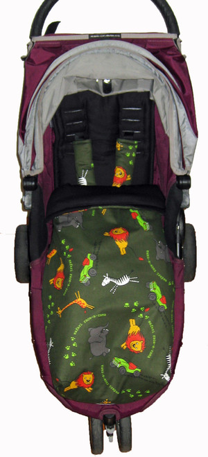 "Safari ""Race a Rama"" Snuggle Bag to fit Baby Jogger photographed in City Mini"