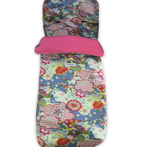 Kimono Blossom Blue Snuggle Bag to fit Baby Jogger City Elite