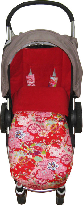 Kimono Blossom Red Universal Fit Snuggle Bag - back in stock!