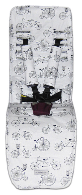 Retro Bikes & Owls pram liner set to fit Baby Jogger City Mini GT