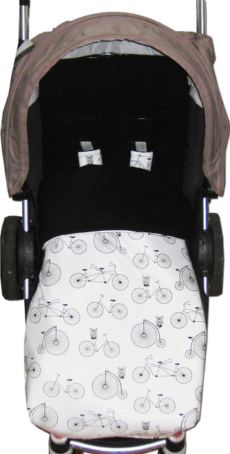 Retro Bicycles & Owls Universal fit snuggle bag photographed in Steelcraft Agile