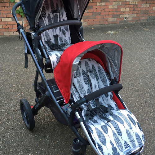 Grey Feathers Pram Liner to fit UPPABaby - back in stock!