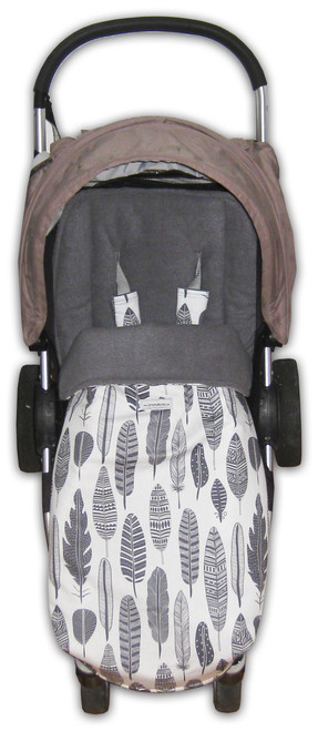 Grey Feathers Universal fit Snuggle Bag