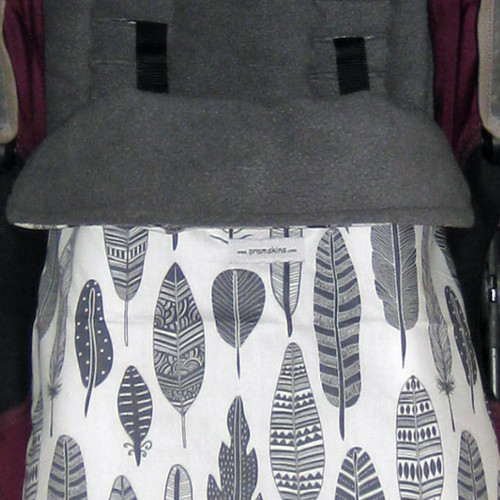 Grey Feathers Snuggle Bag to fit Mountain Buggy Nano/Cosmopolitan