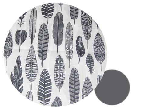 Grey Feathers cotton reversing to grey polarfleece