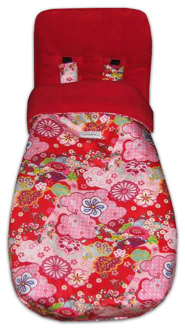 Kimono Blossom Red Snuggle Bag to fit Mountain Buggy