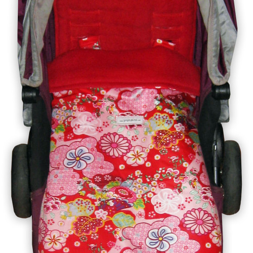 Kimono Blossom Red Snuggle Bag to fit SilverCross
