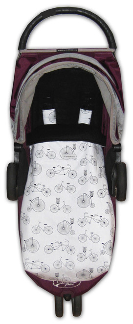 Retro Bicycles & Owls Snuggle Bag to fit Baby Jogger