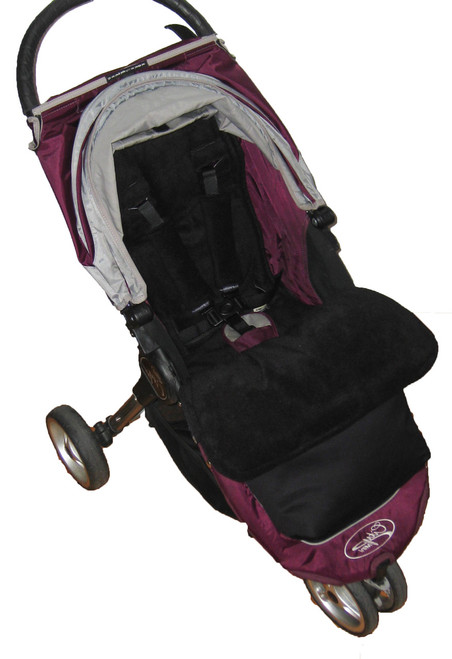 Jet Black Waterproof Snuggle Bag to fit Baby Jogger (photographed in City Mini)