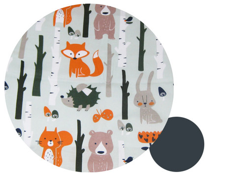Forest Animals Cotton Pram Liner to fit Baby Jogger - back in stock