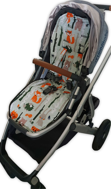 Forest Animals cotton pram liner to fit Uppababy