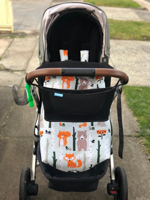 Forest Animals Snuggle Bag to fit UPPAbaby photographed in Uppababy Vista
