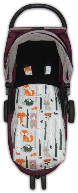 Forest Animals Snuggle Bag to fit Baby Jogger City Mini GT