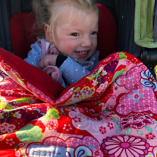 Kimono Blossom Red Snuggle Bag to fit Baby Jogger Summit xc/x3