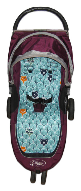 Peekaboo Mint Cotton Pram Liner to fit Baby Jogger