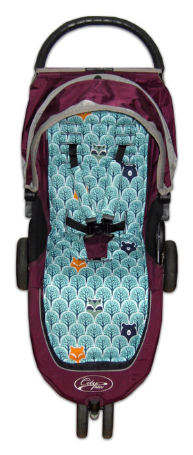 Peekaboo Mint Cotton Pram Liner to fit Baby Jogger City Mini GT
