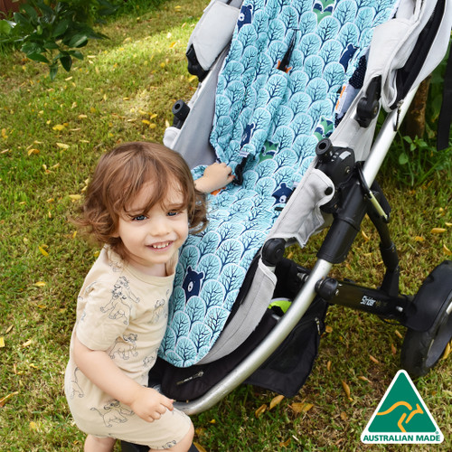 Peekaboo Mint Cotton Pram Liner to fit Strider/Strider Plus/Compact